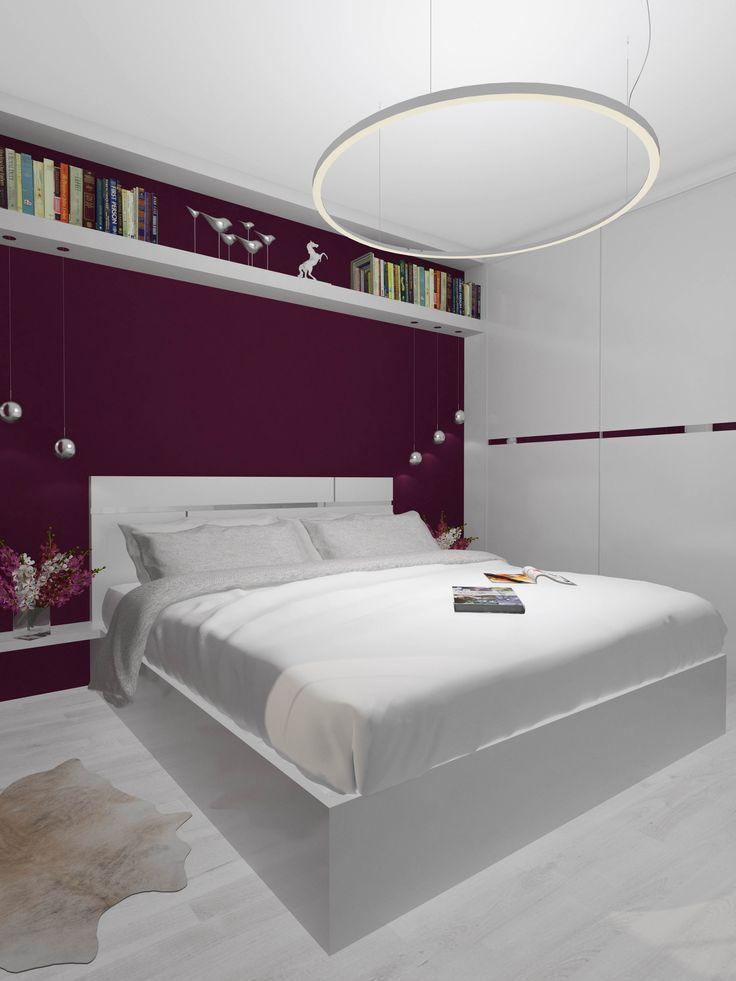 #Дизайн #спальня #сиреневая