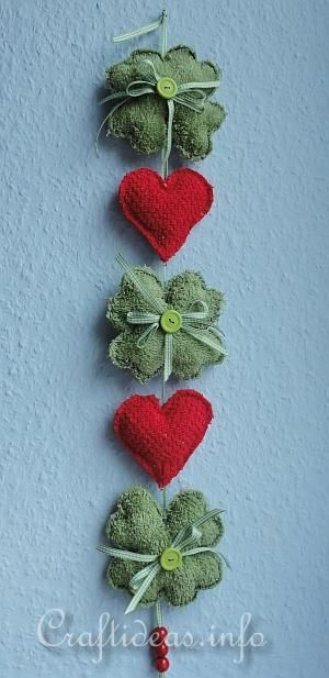 made with green and red washcloths- from craftideas.com