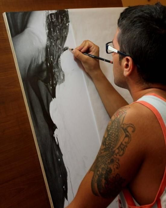 At just 22 years old, Italian artist Diego Fazo has developed the skill to create photo-realistic drawings using a simple charcoal pencil. His latest creation, pictured below, has drawn hundreds of positive comments on his Deviant Art profile.