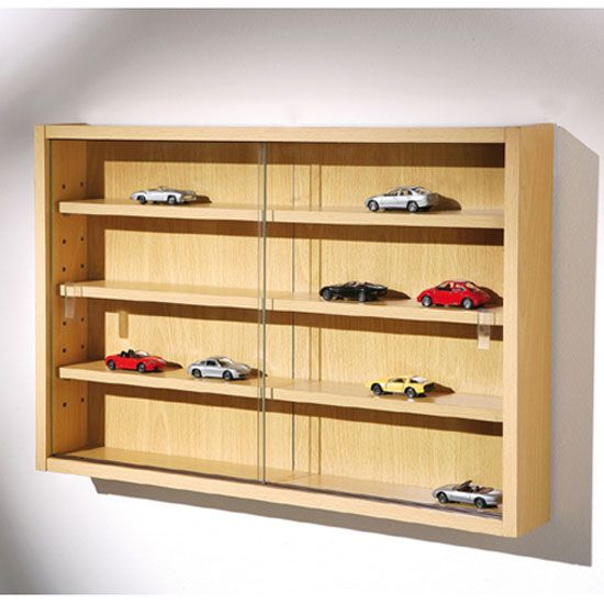 Organize Your Room Setting By Placing Favorite Belongings Behind This Racco Beech Wood Modern Display Cabinetswood