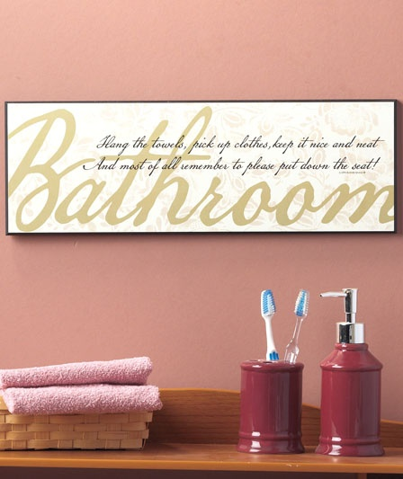 17 best images about bathroom sayings and signs on for Bathroom quote signs