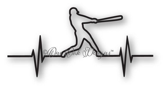 Baseball EKG SVG File dxf / pdf / eps / png/ ai / by OneOakDesigns