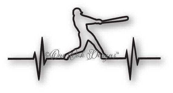 Béisbol electrocardiograma SVG archivo dxf / pdf / eps / png /