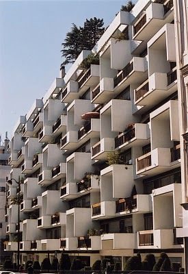31-35 rue Saint-Ambroise by Roger Anger //  It is a series of spaces rather than a surface, to counteract what he called 'the dictatorship of the curtain wall'.