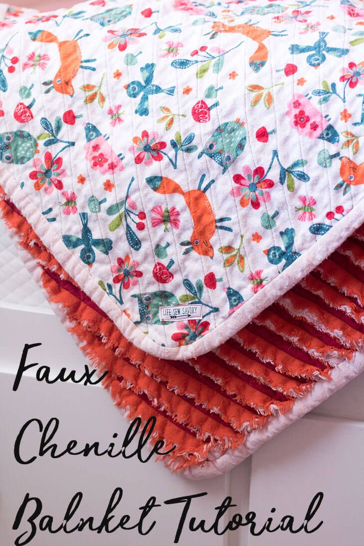 Faux Chenille Blanket Sewing tutorial from Life Sew Savory