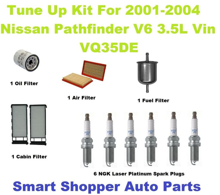 Tune Up Kit For 2001-2004 Nissan Pathfinder NGK Laser Platinum Spark Plug, Filte #AftermarketProducts