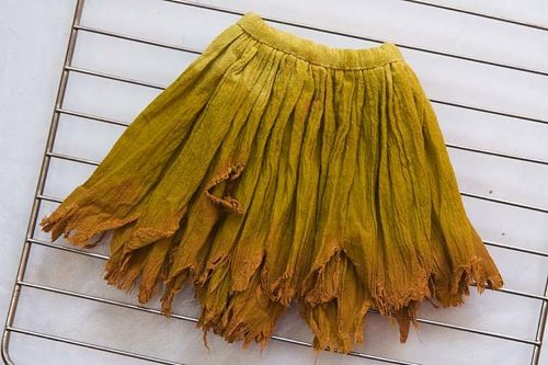 make a fairy skirt with a tattered hemline. This is for a doll's skirt,  but you can do the same thing to your own skirt! How awesome is this for LARPing DIY huh!?! You can even do the painting if you wanted to!