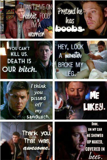 Famous Supernatural quotes :). The fact that theses are real!!!