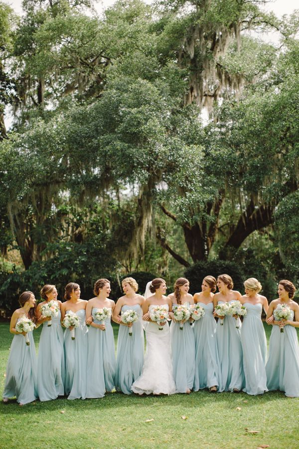 southern-wedding-light-blue-bridesmaid-dresses