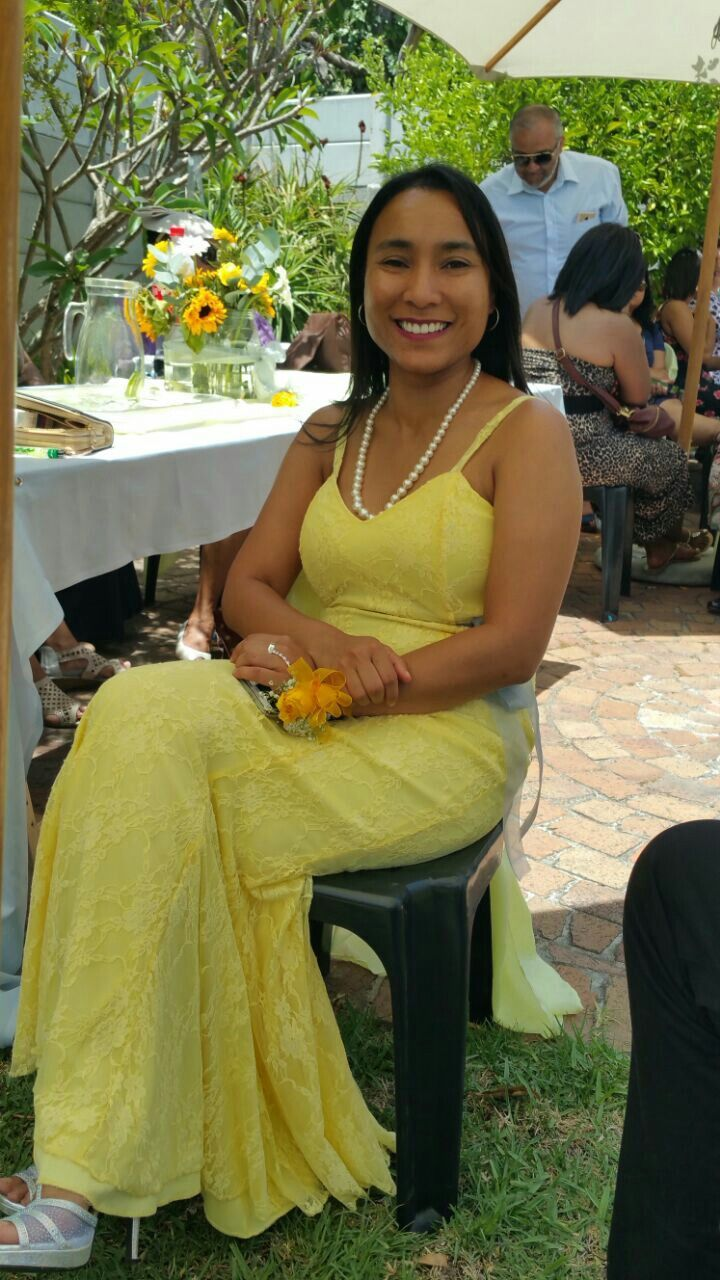 Radiant looking bridesmaid