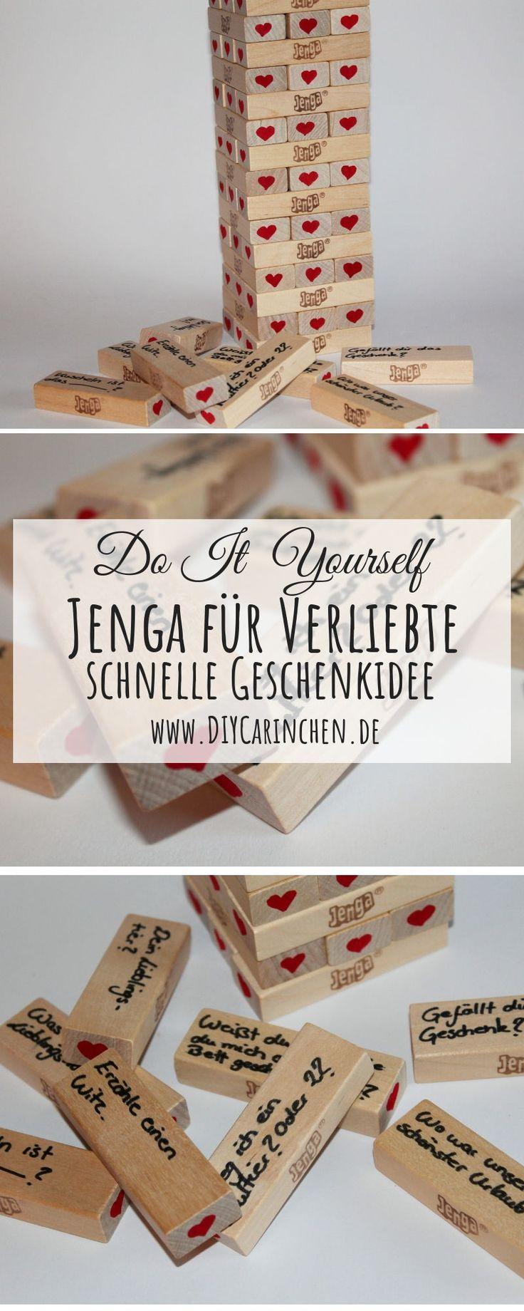 DIY Jenga-Spiel für Verliebte einfach selber machen – perfekte Geschenkidee …
