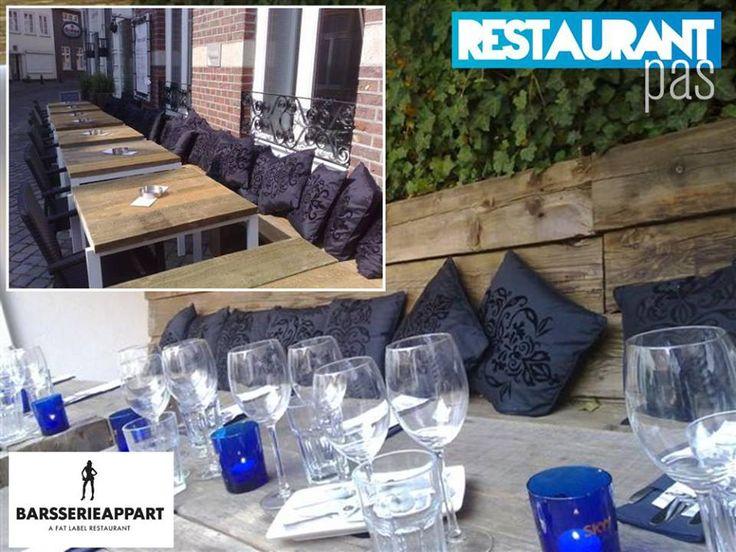 Heerlijk terras bij Barsserie Appart - ontdek het met RestaurantPas Maastricht