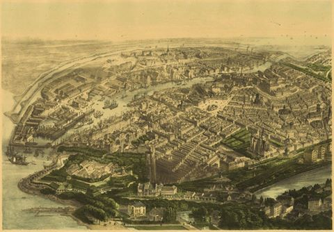 #‎Copenhagen‬ 1860, viewed from a hot air balloon!