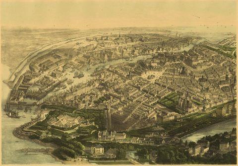 #Copenhagen 1860, viewed from a hot air balloon!