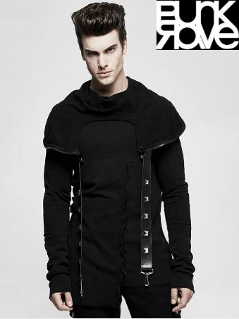 New Thursday = New Look    Shop our new MENS GOTHIC KNIT WARRIOR SWEATER with mask hood - bit.ly/mensgothicsweater Men and Women's sizing available.
