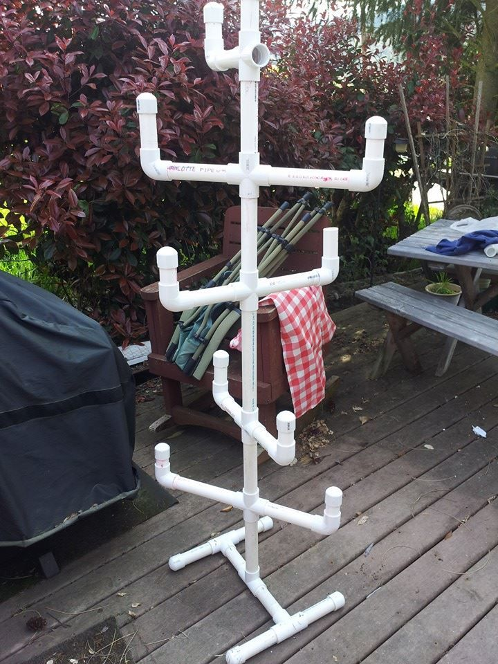 pvc rack - Camping idea make it to breakdown.  Hang towels and wet swimsuits on!