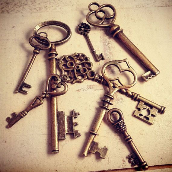 8 Pcs Skeleton Key Charms Antique Bronze Key Charm Victorian Key Charm Old Fashioned Key Charm Vintage Style Pendant Charm Jewelry Supplies via Etsy