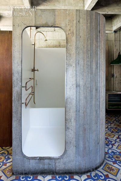 The Second Coming  Each bedroom features a shower capsule with a towel rack made from copper plumbing pipe.