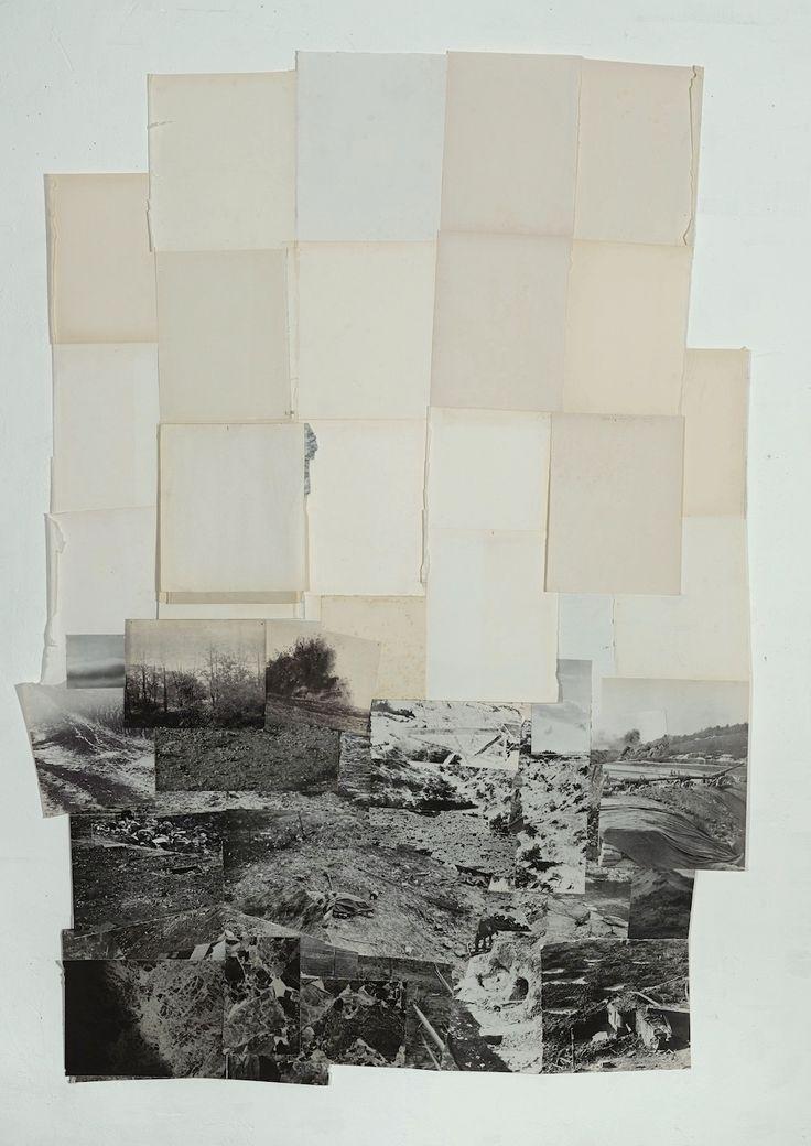 artspotting:  Dieuwke Spaans, Landscape, mixed media / collage, 137 x 109 cm