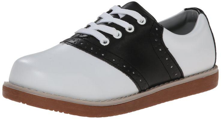 Classroom School Uniform Shoes Cheer Oxford (Toddler/Little Kid/Big Kid),Black/White,12.5 M US Little Kid