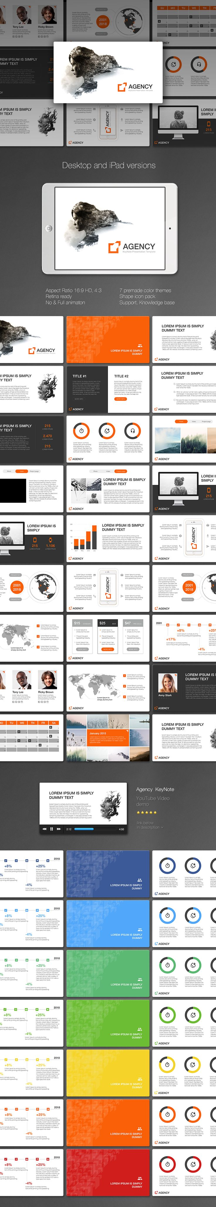 "Download: http://site2max.pro/agency-keynote-template/ ""Agency"" Keynote Template #agency #startup #keynote #key #marketing #ipad #slide"