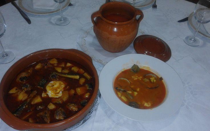 Arroz meloso con sepia, cola de gamba, alcachofas y almejas. Valencia - Restaurante Felix
