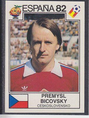 Panini - Espana 82 World Cup - # 266 Premysl Bicovsky - Ceskoslovensko