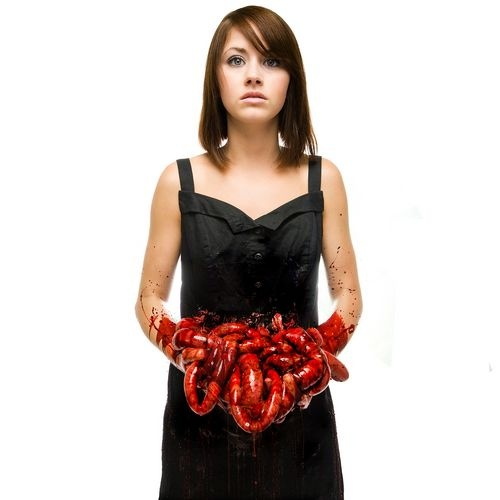 Too gory? Well not sure about the music behind (not really a fan), but the cover caught my eye, especially when the title is *suicide season*. By Bring me the horizon. Well played #bmth, well played...