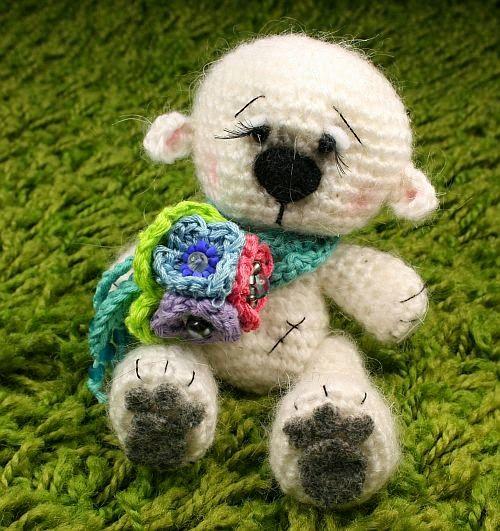 Larris handmade soutache and OOAK: Amelie OOAK teddy bear