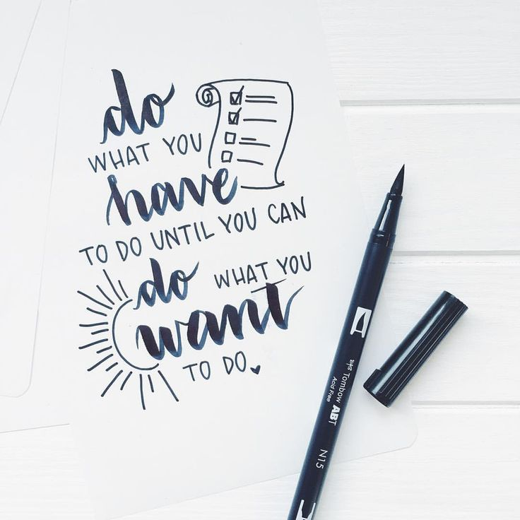 Brush lettering with Tombow ABT Dual brush pen #brushlettering #tombow #quote #motivation #brushpen