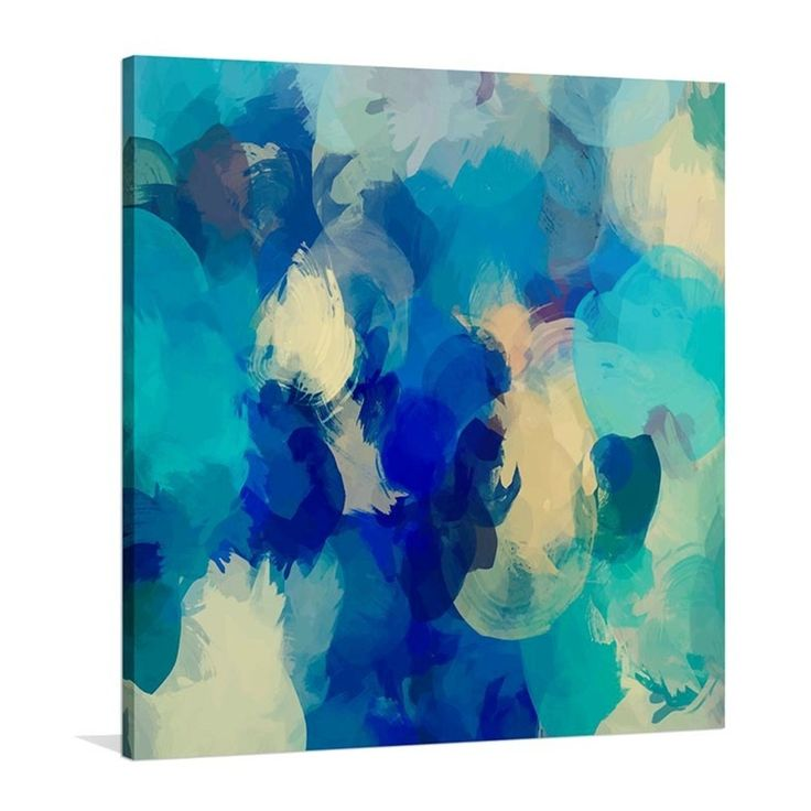 Blue Mondays Stretched Canvas - THEHOME.COM.AU