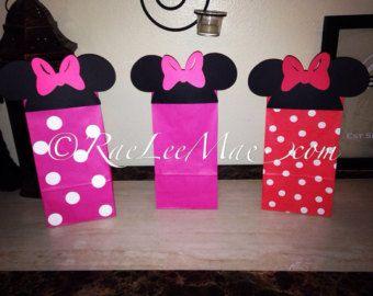 Minnie Mouse inspirado Favor bolsas Goody bolsas bolsas de