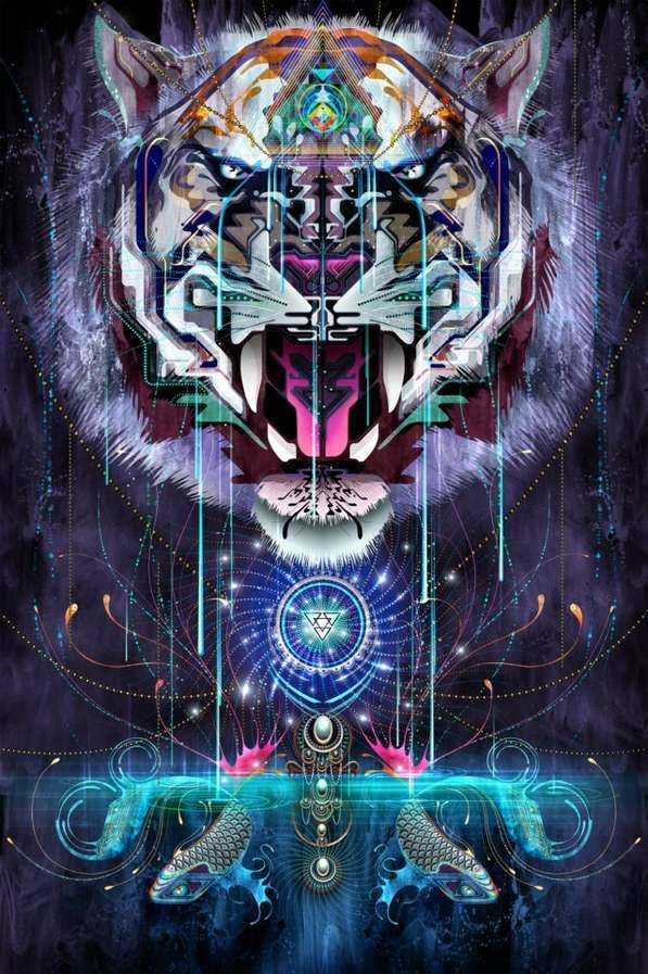 Trippy Feral Digital Art - Chris Saunders Collection of Intricate Psychedelic Digital Art Pieces (GALLERY)