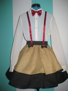 dr who costume girl....I could definitely make this....I need to make a trip to goodwill