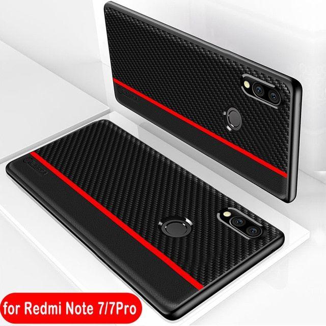 Xiaomi Redmi Note 7 Case Original Cenmaso Fiber Pu Leather Protection Cover Redmi Note 7 Pro Case Xiaomi Redmi Leather Phone Case Protective Cases Leather Case