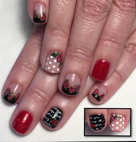470 Best Valentines Day Nail Art Images On Pinterest