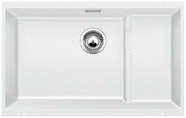 BLANCOSUBLINE 700-U Level Unterbauspüle / weiß / SILGRANIT® / für 80-cm-Unterschränke / Zubehör Edelstahl / 518384