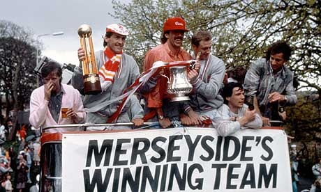 One from the history books. Who's the fella far left enjoying a pint?