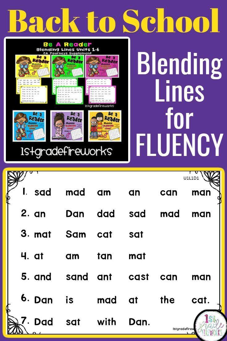 Blending Lines Reading Fluency Passages Reading Fluency Passages Reading Worksheets Phonics Words [ 1102 x 735 Pixel ]