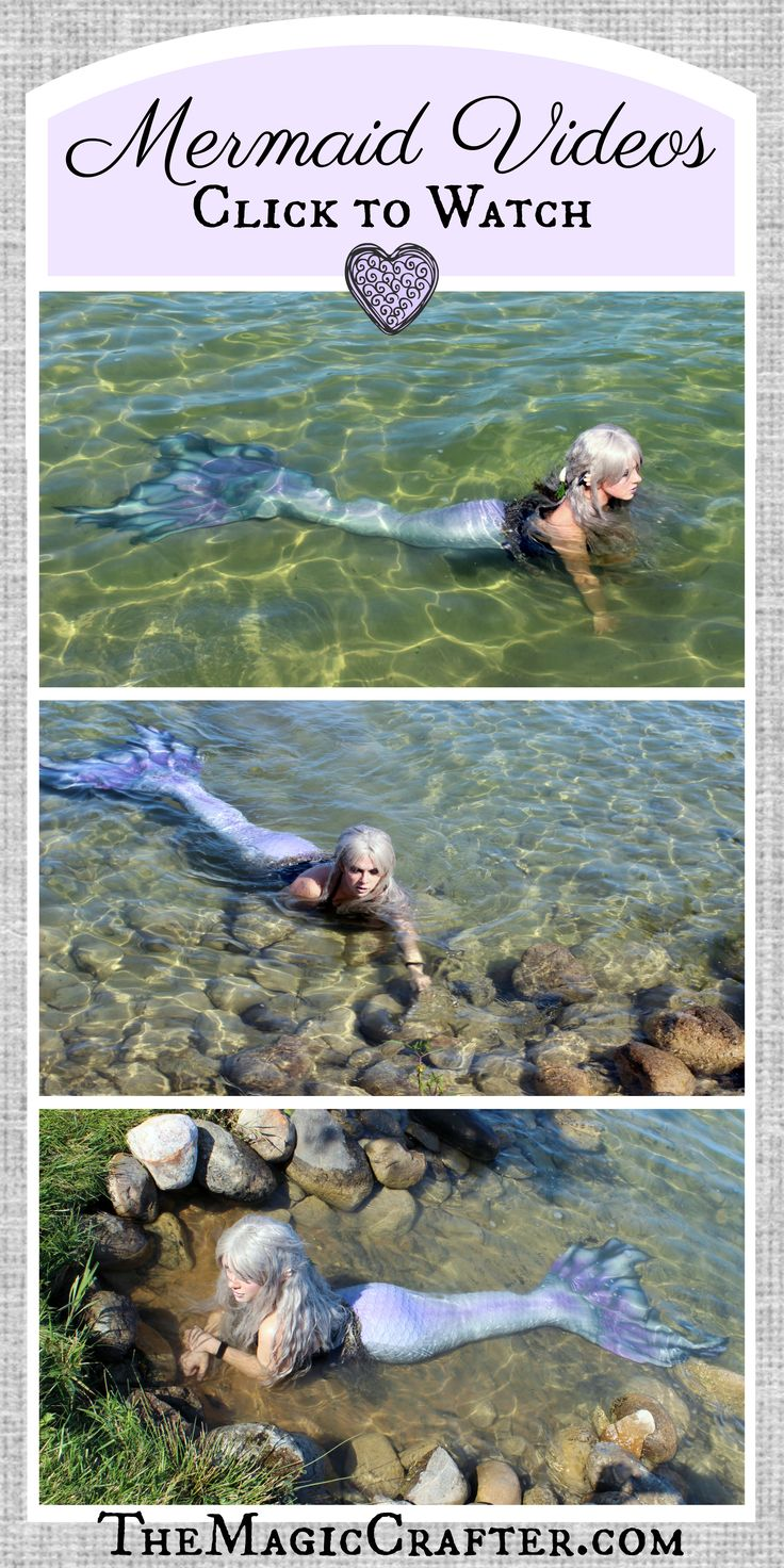 """MERMAID VIDEOS: See video footage of a real live mermaid swimming in the water. The footage that was caught on tape of this fantasy creature was from Northern Michigan. The mermaid shown in the pictures was spotted in various locations around Grand Traverse and Leelanau Counties. She is a professional mermaid who goes by the name """"Phantom."""" #mermaids #silicone #mermaidtails #mernation #videos #cosplay #fantasycreatures #fantasyart"""