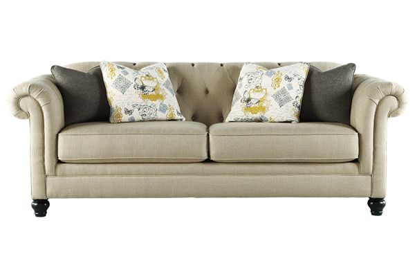 Tufted Sofa From Ashley Furniture Update Got It March 15 And Love Living Room In 2018 Pinterest