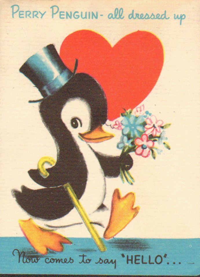 197 best images about Vintage valentine Cards Birds on – Bird Valentine Card