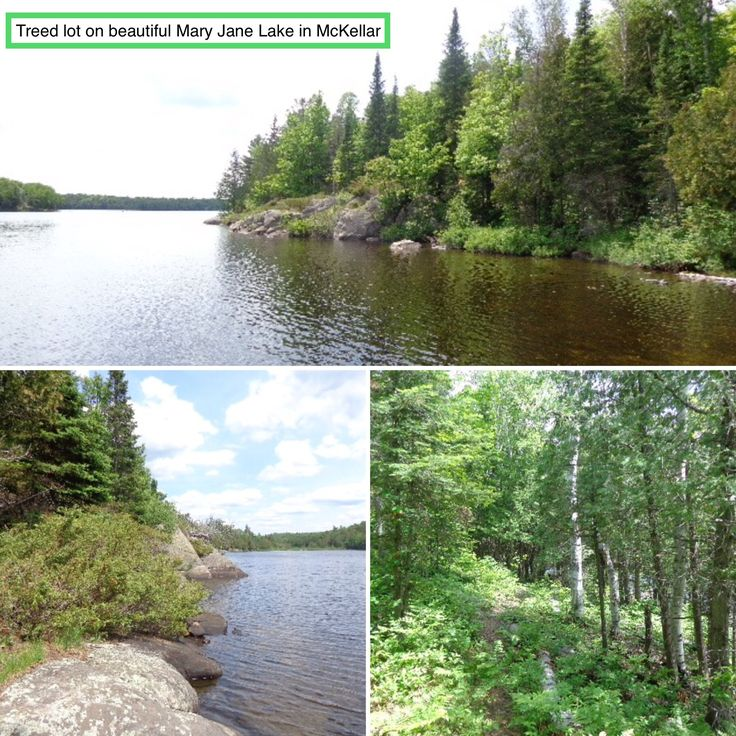 $179,000 - ⛵️🌲Treed lot on beautiful Mary Jane Lake in McKellar. 🛶Access is by Right of Way. 10.45 acres and 341.21 ft frontage ensures privacy. 🌳🌲