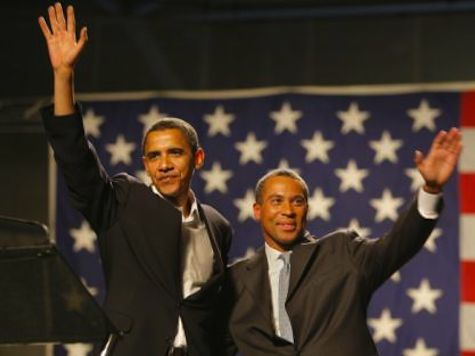 is this why MA GOV PROTECTED THE BROTHERS?  He's still hoping?  Obama Meets Possible Holder Replacement Deval Patrick For Dinner
