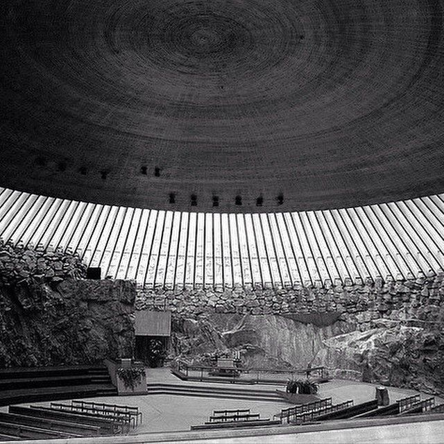 SORN/Architecture: 'Temppeliaukio Kirkko', designed by architects Timo & Tuomo Suomalainen 1969 in Helsinki. Also know as the Church of Rock | sornmag.com