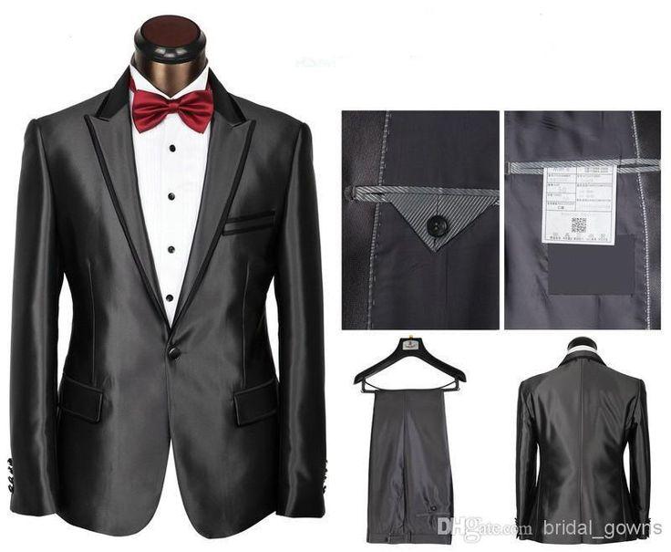 2014 Peak Welt Pocket Custom Made Groom Tuxedos One-Button Jacket+Vest+Pant+Tie Wedding Suits for Men Designer Suits For Men Business Suit from Bridal_gowns,$114.77 | DHgate.com