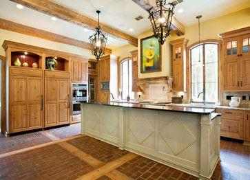 Forest Creek Retreat   Traditional   Kitchen   Dallas   Terry M. Elston,  Builder. Kitchen FloorsBrick ...