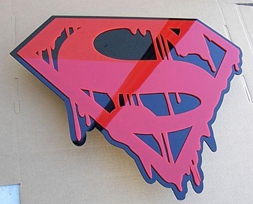 3-D DEATH OF SUPERMAN SIGN rare Movie comic MAN of STEEL Cavill NEW Batman