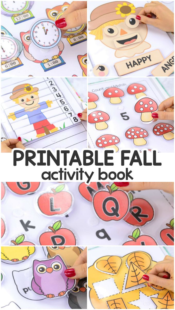 Printable Fall Quiet Book - Activity Book for Pre-K and K | Easy
