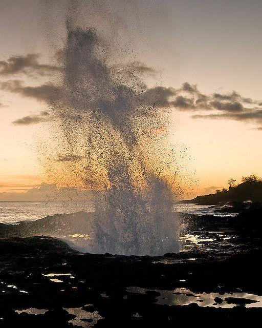 Spouting Horn - Poipu, Kauai, HAWAII